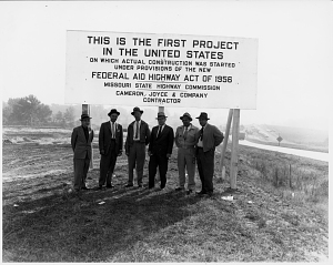 Sign along Highway 40, now Interstate 70, St. Charles County, Missouri, 1956