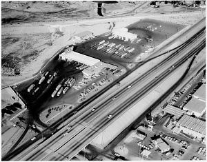 El Paso truck terminal on I-10, 1966