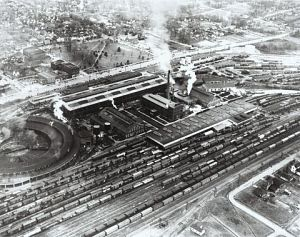 Aerial view of Spencer Shops