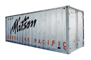 Matson aluminum shipping container, about 1970 Courtesy of Matson Navigation Company