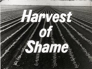 "Title frame from ""Harvest of Shame,"" copyright CBS, 1960"