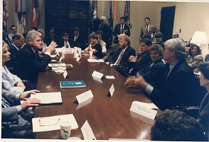 Apparel Industry Partnership meeting at the White House, Aug. 2, 1996