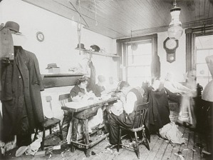 Tenement Sweatshop, New York City, ca 1900