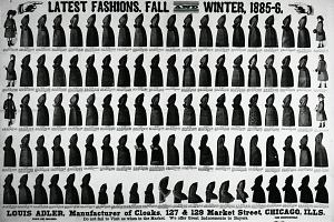 Advertisement for Louis Adler cloaks, 1885–86