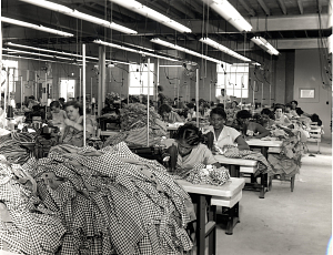 African American Workers Ironing Garments