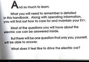EV1 Owner's Book