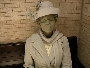 Dr Charlotte Hawkins Brown, founder of Palmer Institute in Sedalia, N.C., sits in the Salisbury waiting room.