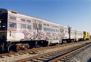 Chicago Transit Authority transit car 6719 at Skokie Rail Yard, 1999