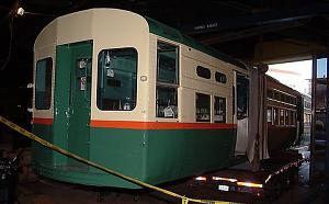 CTA car 6719 inches into the National Museum of American History, January 7, 2003