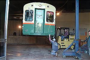 CTA car 6719 is set in place at NMAH, January 7, 2003