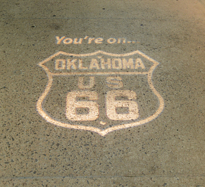 Pavement from Route 66 near Bridgeport, Oklahoma, 1932