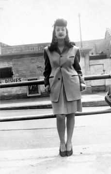 Woman wearing a zoot suit