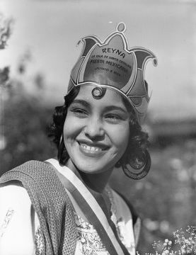 Unidentified girl, Queen of the Mexican Festival of Santa Catalina Island, 1934