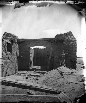 Old mission church and ruins at Pecos, 1846