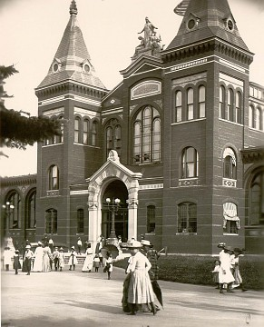 Visitors to the United States National Museum (now the Arts & Industries building), about 1881
