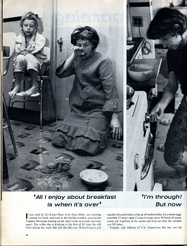 Life in Mrs. Newcome's Kitchen, 1962