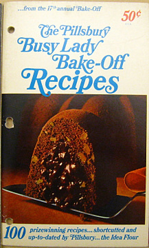 """""""The Pillsbury Busy Lady Bake-Off Recipes"""" booklet, 1966"""