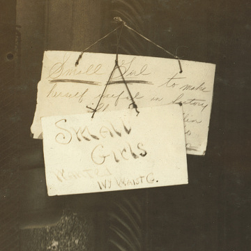 Sign on Factory Entrance, New York, 1916