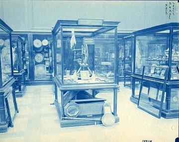 North Hall exhibits, Arts & Industries building, 1897
