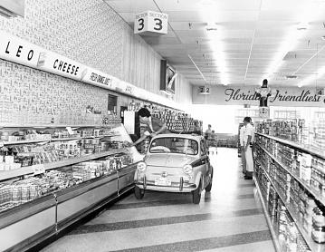 Publicity stunt, around 1957
