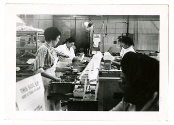 Women working in Kubla Khan Frozen Food Company factory, 1965