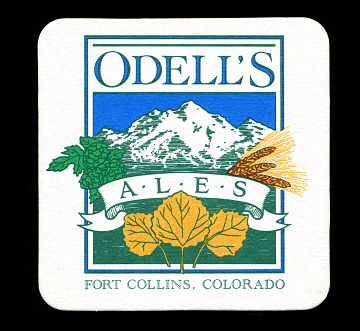 Coaster from Odell Brewing Company taproom in Fort Collins, Colorado, 1993–2004
