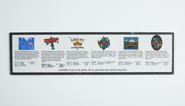 Beer offerings card from Odell Brewing Company taproom in Fort Collins, Colorado, 1993–2004