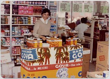 In-store promotion of Goya Foods products, 1980s