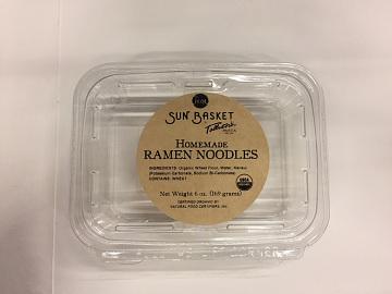 Sun Basket housemade ramen noodles packaging