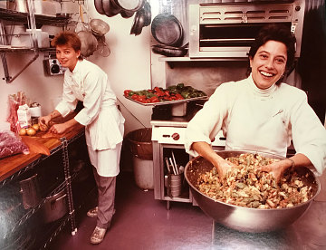 Mary Sue Milliken and Susan Feniger shortly after they opened their first restaurant in Los Angeles, 1982
