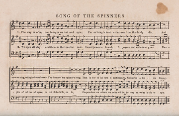Song of the Spinners, 1841