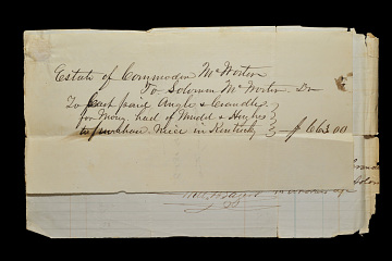 Receipt for purchase of Charlotte Cowan, granddaughter of Free Frank, from slavery, around 1857