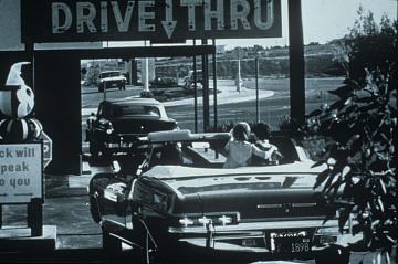 Drive thru, about 1960