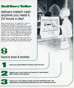 ATM instruction brochure, 1970