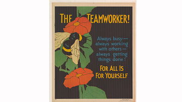 """The Teamworker!"" poster, 1929"