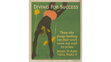 """Diving for Success"" poster, 1929"