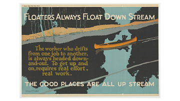 """Floaters Always Float Down Stream"" poster, 1923"