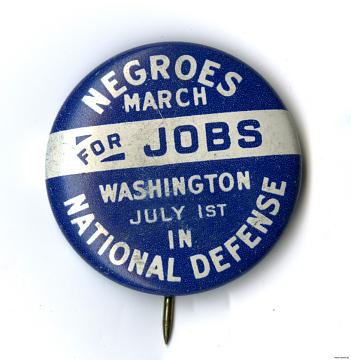 Civil rights button, 1920s–1960s