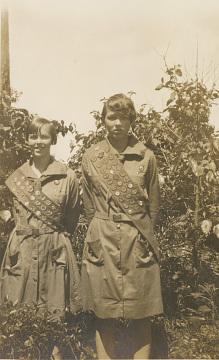 Louise Davis (right) and Fellow Golden Eaglet Winner, around 1930