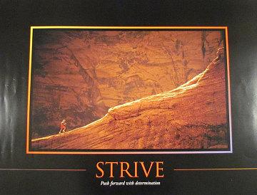 """""""Strive"""" poster, 1995"""