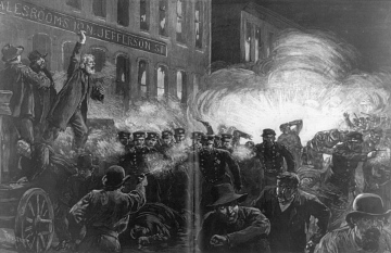Haymarket Riot, Chicago, Illinois, 1886
