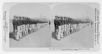 Puerto Rican enlisted men in American army, 1899