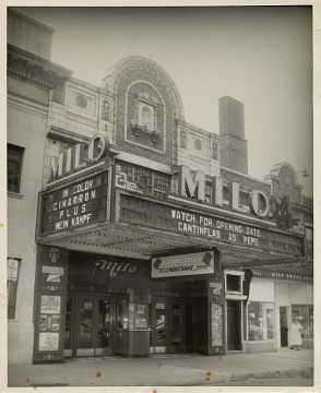 Milo Movie Theater, also known as Teatro Villa to the Mexican community, 1956