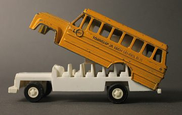 Toy school bus, late 1970s–early 1980s