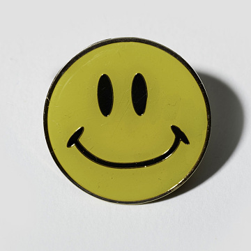 Smiley face pin, 1996