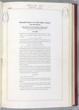 Fair Labor Standards Act, 1938
