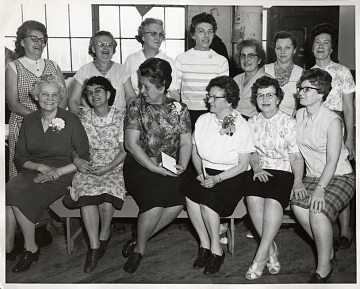 Mary Blazek and fellow retirees, 1967