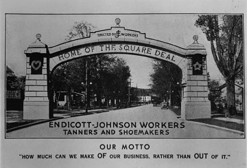 Endicott and Johnson workers arch, 1933