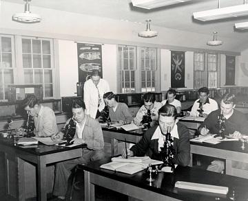 Lab class, around 1950