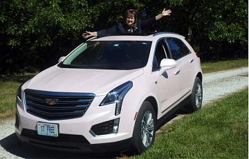 Denise Kucharski's 17th pink Cadillac, 2017